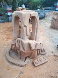 Christianias Sandskulptur