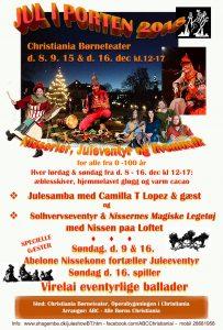 Jul i porten – Juleshow på Christiania for børn / barnlige sjæle