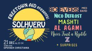 Freetown Aid presents: Solhverv – Solstice party at Operaen CA 21. dec.