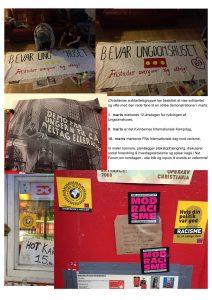 Christianias solidaritetsgruppe vil vise solidaritet og vifte med den røde fane til en stribe demonstrationer – kom og vær med!