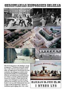 Arrangement i Christianias Historiske Selskab i Byens Lys Mandag d. 10 juni