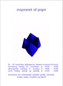 Værkstedsfælleskabet Virkestedet 'Inspireret af papir'  udstiller på Gallopperiet
