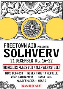 Freetown Aid presents: Solhverv på Staden
